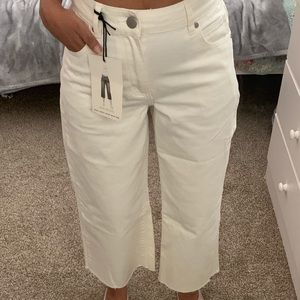 Cotton On mid rise wide crop jeans